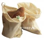 Vrecko na chlieb z biobavlny veľkosť L